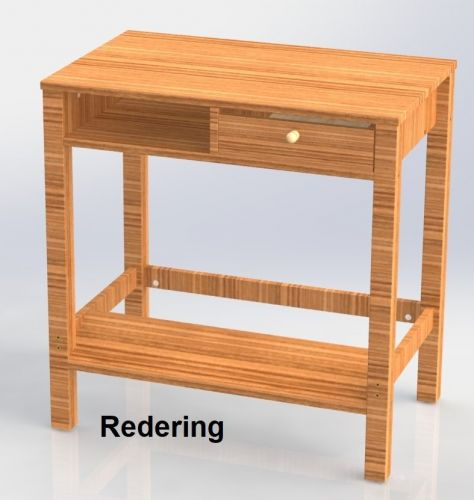 Redering Dressing Table