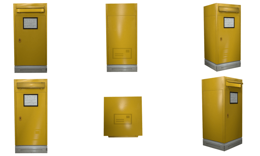 2D Design style - a Yellow letter box