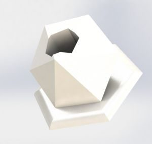 CAD Rendering shown by a ceramic penholder a diamond shape with white colour