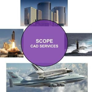 Image showing scope of CAD Services - from Building to Aerospace