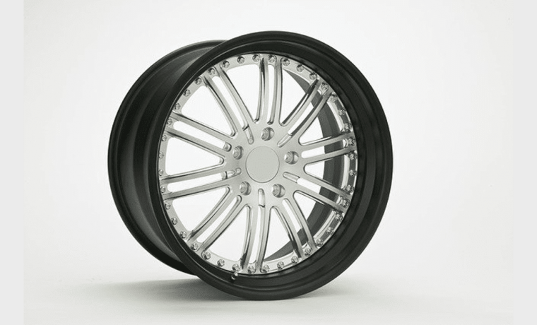 Novel Alloy wheel white hub and black rim