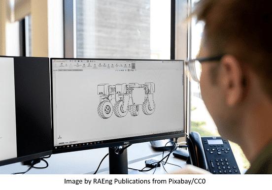 Mechanical engineer working on an advanced vehicle design