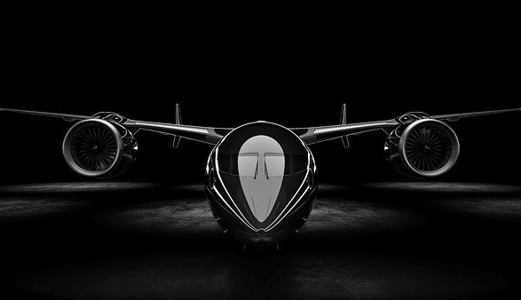 Private jet rendering