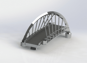 Rendering of Clyde Arc from orthographic view