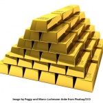 Worth of CAD expert represented by a pile of Gold bricks