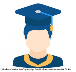 A scholar shown with a blue scholarly hat