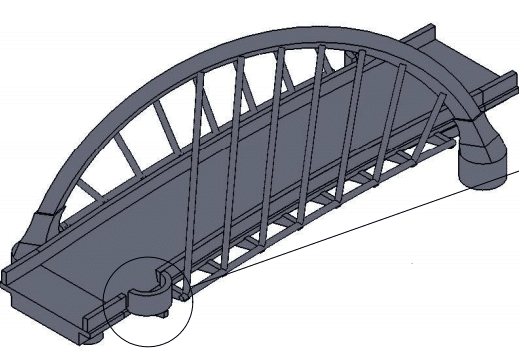 Clyde arc orthographic view