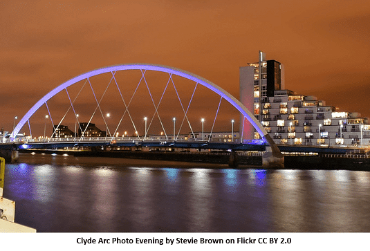 Clyde Arc Evening View with Lighting