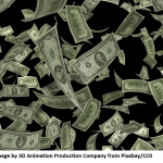 Cost of CAD software represented by falling cash