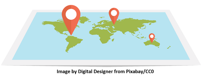 Location represented by a google map like style