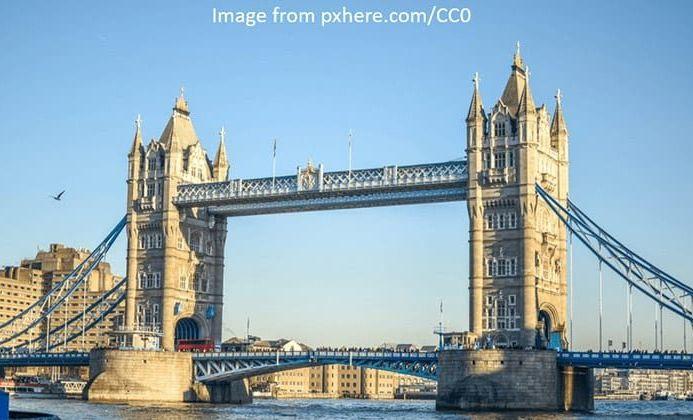 London Tower Bridge Day Scene Clear Sky