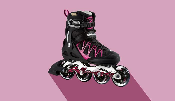 Roller Skate on pink background