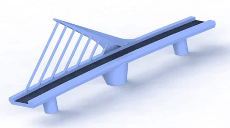 Woman Bridge 3D CAD Rendering