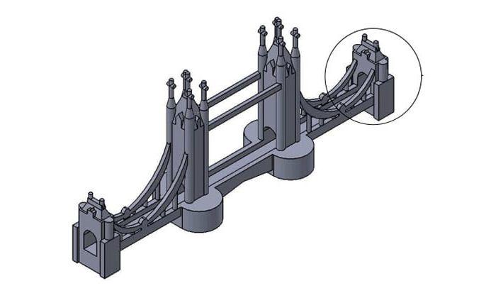 London bridge 3D model with realistic features