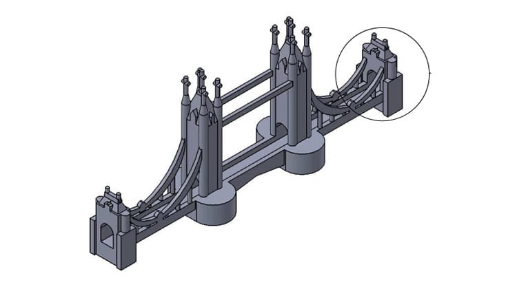 London bridge 3D model with realistic features