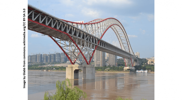 Day picture of Chaotianmen Bridge from Wikimedia