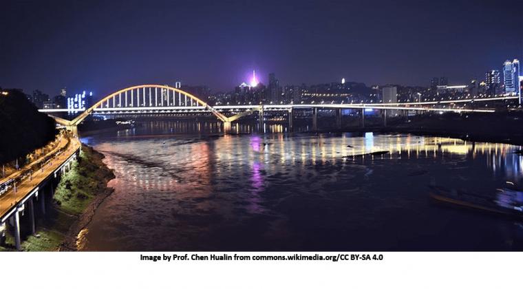 Night Scene of Chaotianmen Bridge from wikimedia